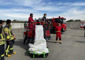 رونمایی از تجهیزات سیستم شوتینگ سازمان آتش نشانی و خدمات ایمنی شهریار