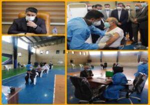 انجام واکسیناسیون علیه بیماری کرونا در شهر باغستان