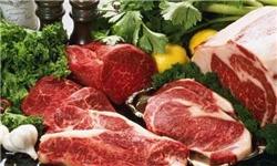 عرضه گوشت گرم گوسفندی در بازار روزهای میادین کرج