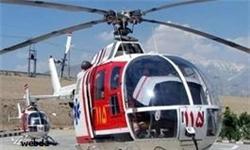 سقوط بالگرد اورژانس در منطقه مسکونی روستای دهنو