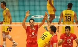 گزارش تصویری / از پیروزی تیم ملی والیبال ایران مقابل برزیل