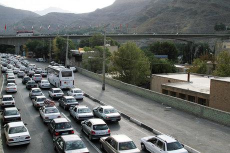 ترافیک نیمهسنگین در ۳ جاده شمالی