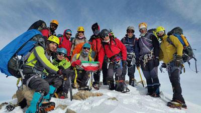حضور کوهنوردان شهریاری در ششمین اردوی هیمالیانوردی استان البرز