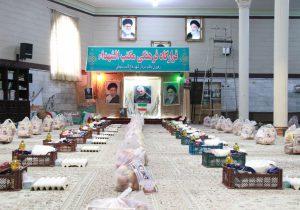 توزیع ۱۰۰ بسته معیشتی به یاد شهید ابراهیمی در روستای رزکان