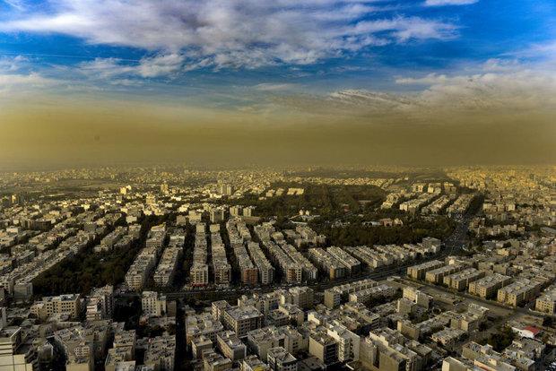 میزان آلودگی هوا در شهرهای استان تهران