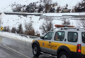 بارش باران و برف بهاری در برخی محورهای استان تهران