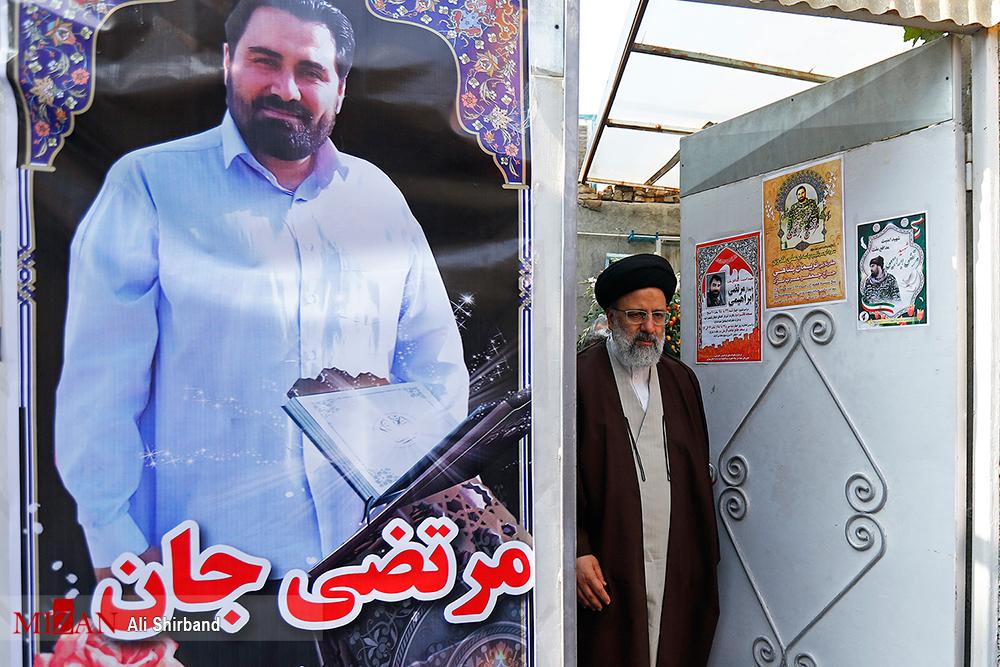 دیدار رئیس قوه قضاییه با خانواده شهید مرتضی ابراهیمی