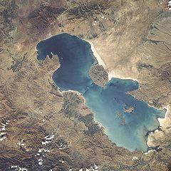 تصاویر گوگل از خشکشدن دریاچه ارومیه در ۲۸سال
