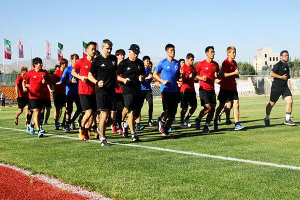 بازدید شهردار قدس از تمرینات تیم ملی ژاپن