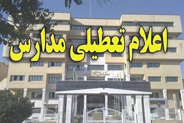 تعطیلی مدارس استان تهران به غیر از فیروزکوه ودماوند تا پایان هفته