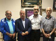 نشست علی پروین و پیشکسوتان در مورد آینده فوتبال استان تهران