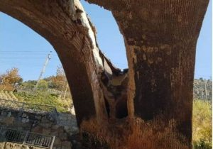 قدیمیترین سازه کرج فرو ریخت/ پل دختر در مقابل باران دوام نیاورد