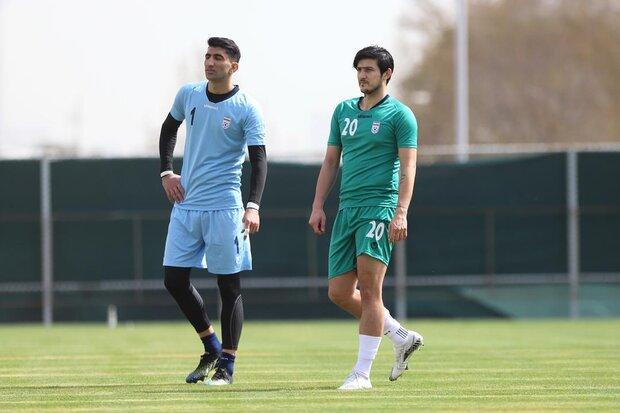 تصاویری از اولین تمرین نوروزی تیم ملی فوتبال ایران