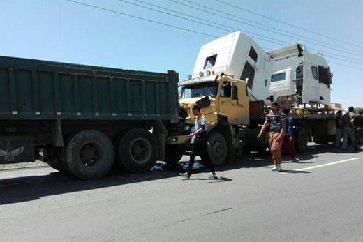 تصادف زنجیره ای شش خودرو در شهریار
