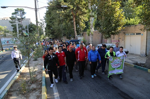 برگزاری همایش پیاده روی خانوادگی در شهرک جعفریه