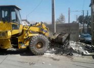 جمع آوری و پاکسازی ضایعات ساختمانی مرکز توانبخشی آویژه شهر قدس