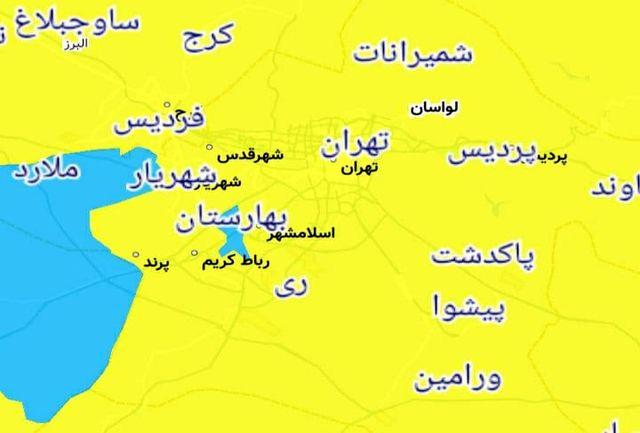 کدام شهرستانهای استان تهران آبی کرونایی هستند؟
