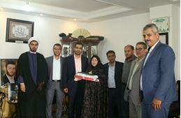 دیدار از خانواده دو شهید ورزشکار مدافع حرم حضرت زینب (س) به مناسبت هفته جوان