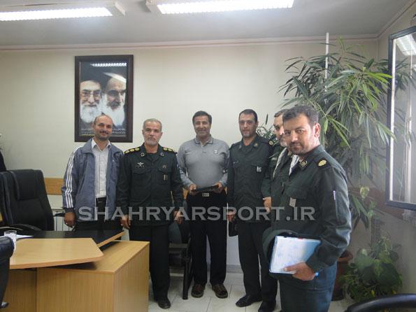 دیدار فرمانده سپاه ناحیه مقاومت بسیج شهرستان شهریار با احمد عبدالوند