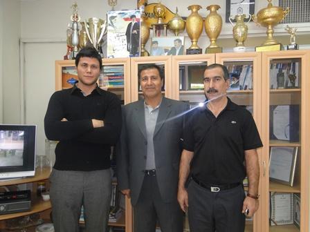مهدی مهدوی ملی پوش تیم ملی والیبال کشور با احمد عبدالوند دیدار کرد