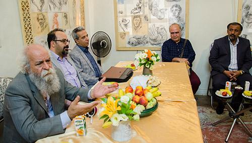 افتتاح نمایشگاه نقاشی پرتره برخی از مشاهیر ایران در شهریار
