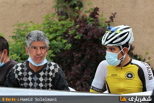 حضور دوچرخه سواران در مرکز توانبخشی بردیا وائین شهریار