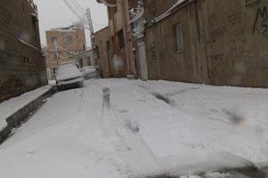 نخستین بارش برف شهریار را سفید پوش کرد