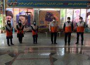 غبار روبی مزار شهدا دفاع مقدس توسط مسئولین و کارکنان بهزیستی ملارد به مناسبت