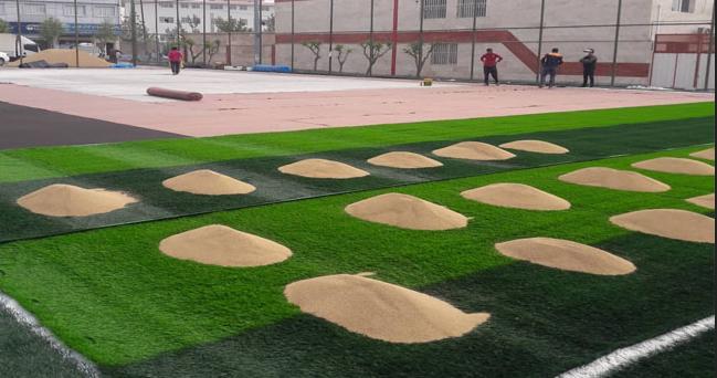 آغاز عملیات اجرایی بهسازی چمن زمین چمن مصنوعی فوتبال در محله باباسلمان
