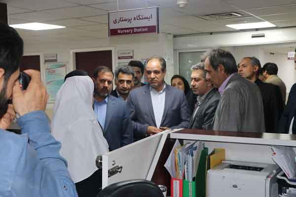 بازدید معاون درمان وزارت بهداشت از بیمارستان ۱۲ بهمن شهر قدس
