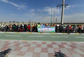 مسئولین شهر اندیشه به پویش پنج شنبه های با دوچرخه پیوستند