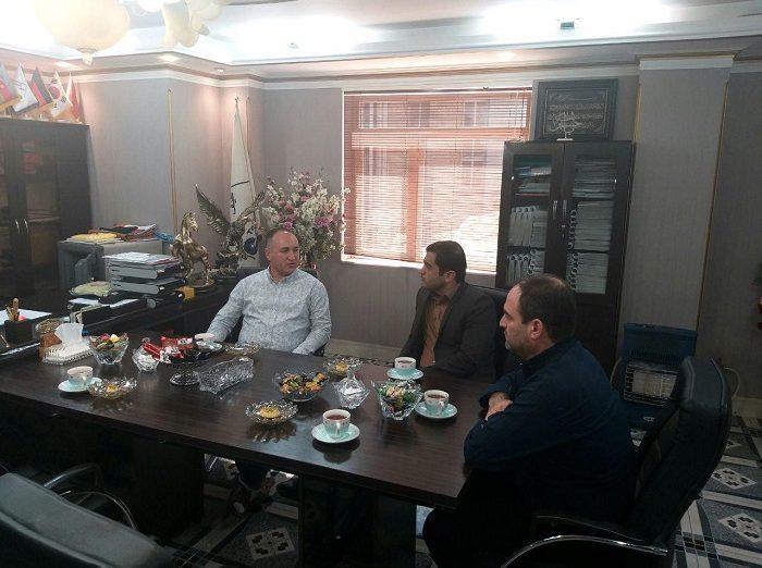 دیدار مدیرعامل شرکت شهرک صنعتی صفادشت با مدیرعامل شرکت طیف گستر
