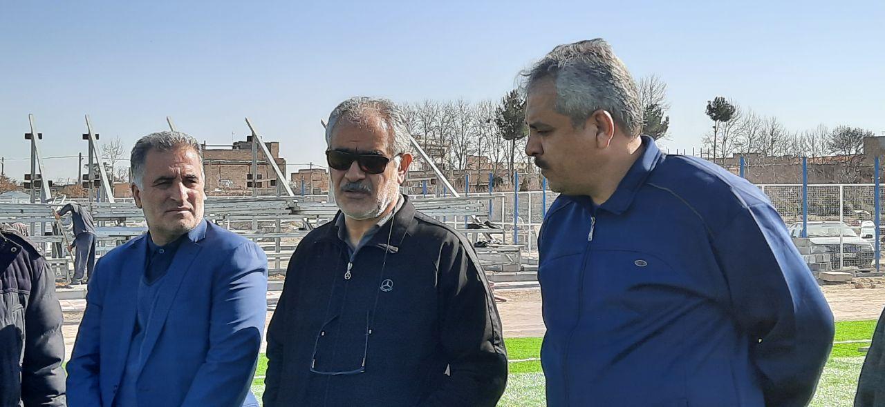 بازدید گل محمدی از پروژه استادیوم ۵۰۰۰ نفری شهر وحیدیه شهریار