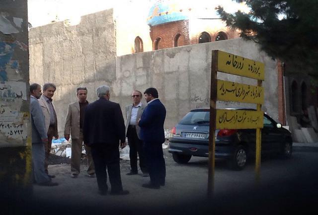 بازدید دادگر از زورخانه در حال ساخت شهریار