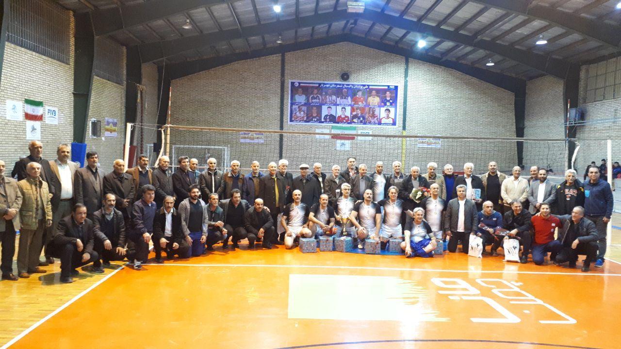 فینال و اختتامیه مسابقات والیبال پیشکسوتان جام یاد یاران در شهرستان شهریار