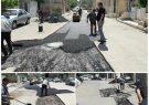 آسفالت و لکه گیری نوار حفاری خیابان سلیم غربی شهرقدس
