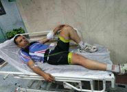 حمله وحشیانه افراد ناشناس به دوچرخه سوار شهریاری در جاده شهریار تهران
