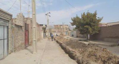 اصلاح شبکه آبرسانی روستای رضی آباد