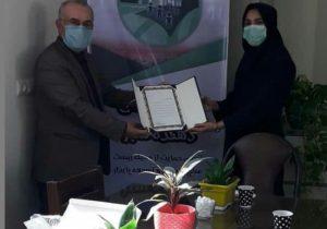تقدیر از رئیس هیات کوهنوردی شهرستان شهریار توسط انجمن مهر اندیشان دهکده سبز
