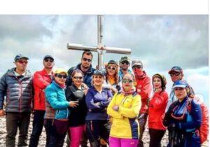 صعود کوهنوردان شهریاری به قله آراگاتس  بلند ترین قله کشور ارمنستان