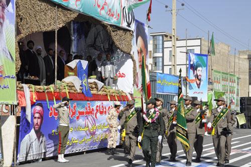 گزارش تصویری / رژه نیرو های مسلح و ورزشکاران در شهریار